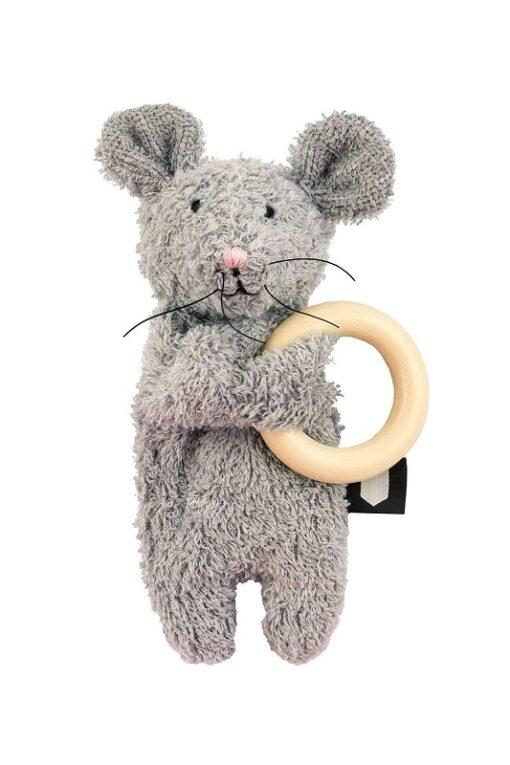Hebe - muis met bijtring - grijs - Eileen4Kids