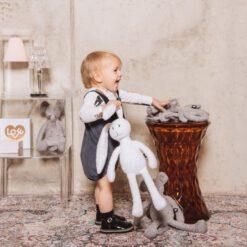 Hebe - knuffeldier - wit konijn - Eileen4Kids