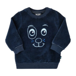 Me Too sweatshirt velours blauw - Eileen4Kids