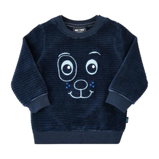 Me Too sweatshirt velours blauw - Eileen4Kids