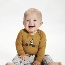 Minymo - shirt - lange mouwen - panda - Eileen4Kids
