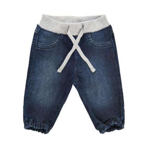 Minymo - sweat denim broek - blauw - Eileen4Kids