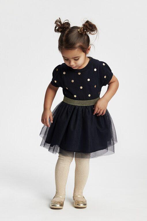 Me Too - jurk met tule - donker blauw - Eileen4Kids