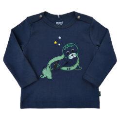 Me Too shirt zeehond blauw - Eileen4Kids