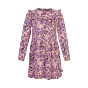 Minymo jurk gebloemd grape - Eileen4Kids