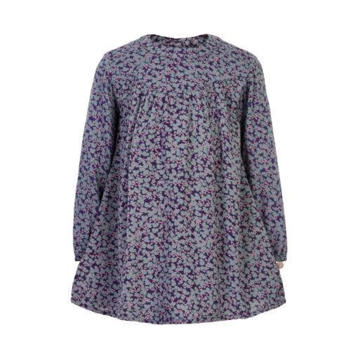 Minymo - jurk - gebloemd - paars - Eileen4Kids
