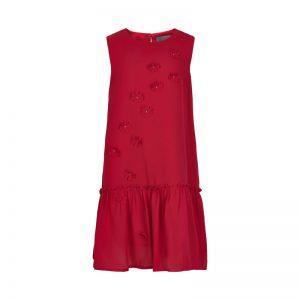 Creamie - jurk - chiffon - rood - Eileen4Kids
