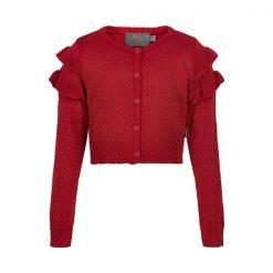 Creamie - kort vest - rood met glitters - Eileen4Kids