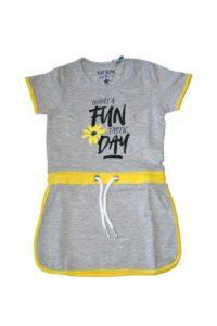 Blue Seven - jersey jurk - fun panda - grijs - Eileen4Kids
