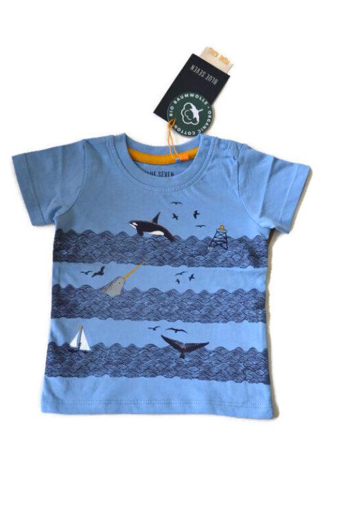 Blue Seven - jongens T-shirt - blauw - Eileen4Kids (
