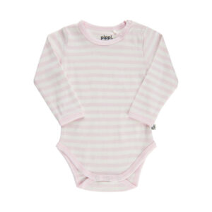 Pippi - romper - gestreept - roze - Eileen4Kids