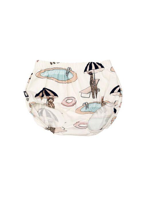 HEBE - baby korte broek - pool print - Eileen4Kids