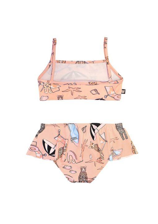 HEBE - bikini met rokje - pool print - roze - Eileen4Kids