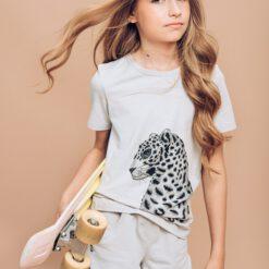 HEBE - meisjes korte broek - licht grijs