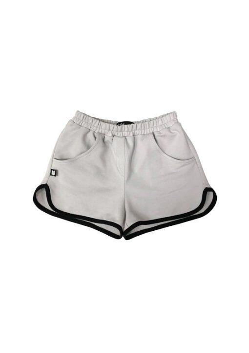 HEBE - meisjes korte broek - licht grijs - Eileen4Kids