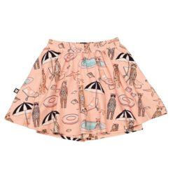 HEBE - rok met short - pool print - roze - Eileen4Kids