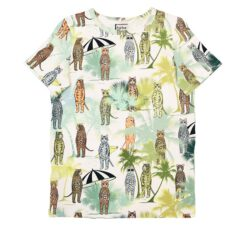 HEBE - t-shirt - dierenprint tropical beach - Eileen4Kids