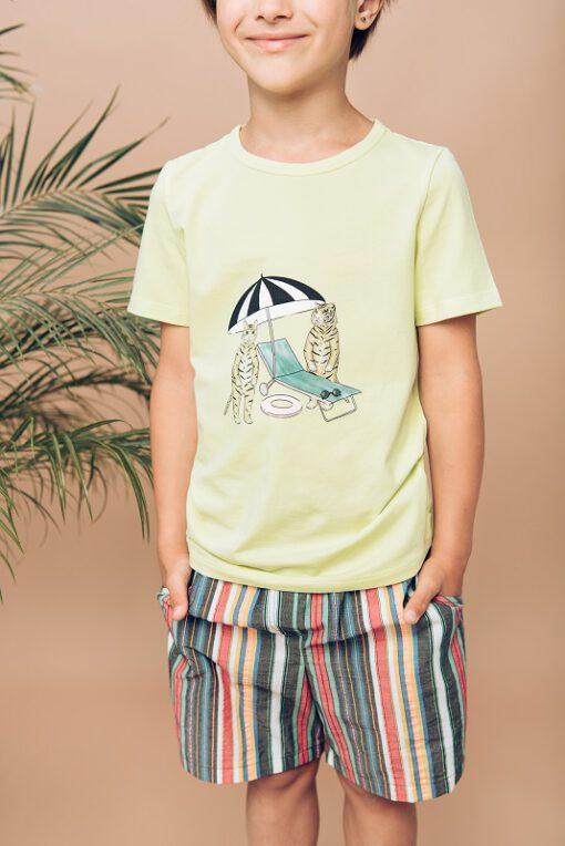 HEBE - t-shirt - geel - Eileen4Kids