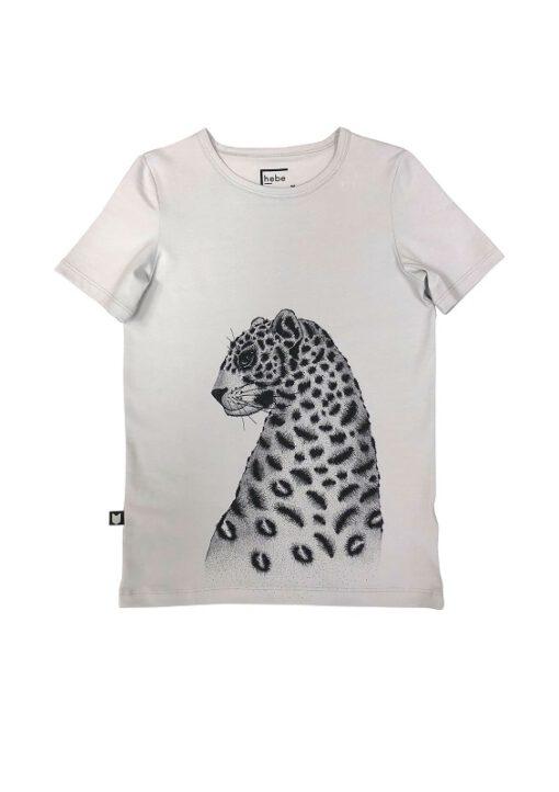 HEBE - t-shirt - korte mouwen - luipaard - grijs - Eileen4Kids