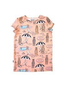 HEBE - t-shirt - pool print - roze - Eileen4Kids