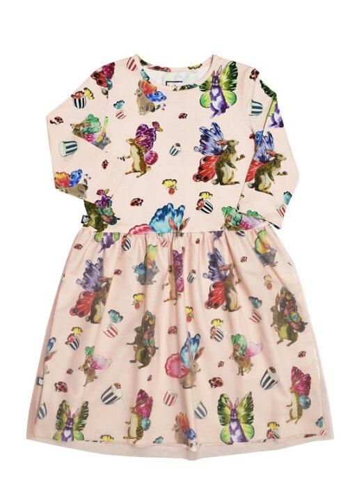 Hebe - jurk - korte mouwen - tule rok - Butterfly Rabbit - Eileen4Kids