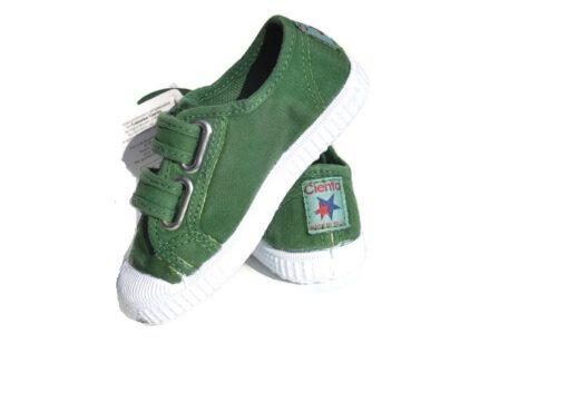 CIENTA - canvas klittenbandschoen - groen - Eileen4Kids