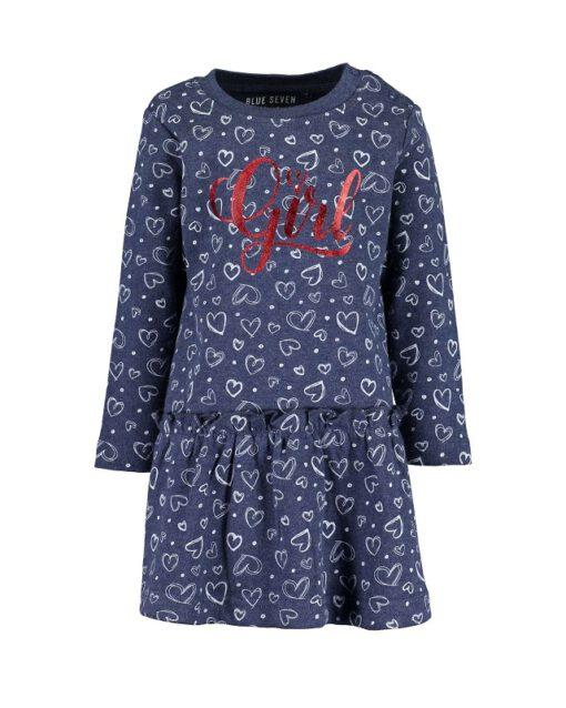 Blue Seven - meisjes jurk met lange mouwen - Eileen4Kids
