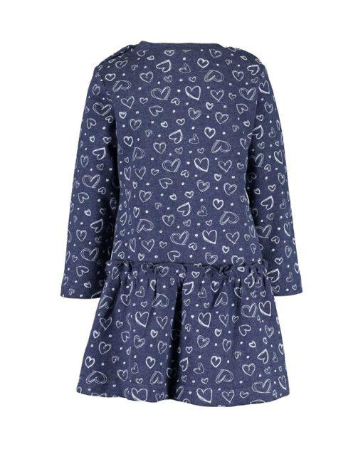 Blue Seven - blauwe jurk - Eileen4Kids