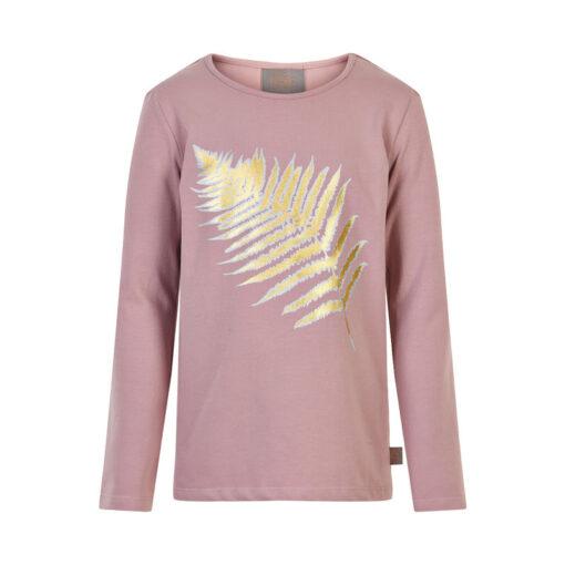 Creamie - meisjes shirt - blad - mauve - Eileen4Kids