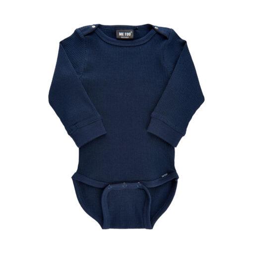 Me Too - baby romper - lange mouwen - blauw - Eileen4Kids