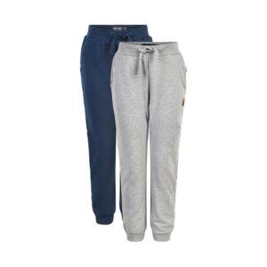 Me Too - jongens sweat pants - 2-pack blauw/grijs - Eileen4Kids