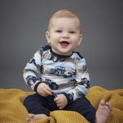 Me Too - newborn baby shirt - lange mouwen - tractoren - Eileen4Kids