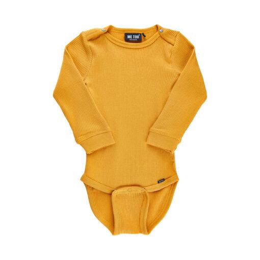 Me Too - romper - rib - lange mouwen - geel - Eileen4Kids