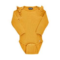 Me Too - romper - rib met roesjes - geel - Eileen4Kids
