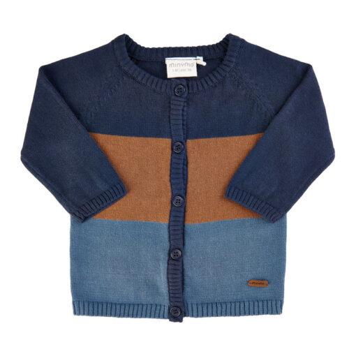 Minymo - gebreid baby vest - Eileen4Kids