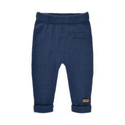 Minymo - gebreide baby broek - blauw - Eileen4Kids