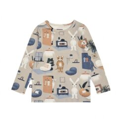 HEBE - beige shirt - sweet home - Eileen4Kids