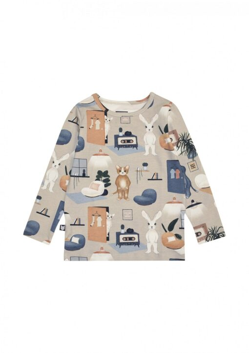 HEBE - beige shirt - sweet home - Eileen4Kids