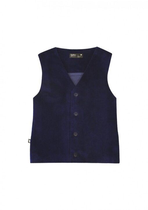 HEBE - jongens vest corduroy blauw - Eileen4Kids