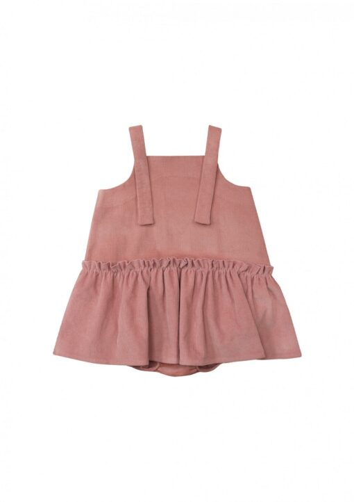 HEBE - jurk met romper - corduroy - roze - Eileen4Kids