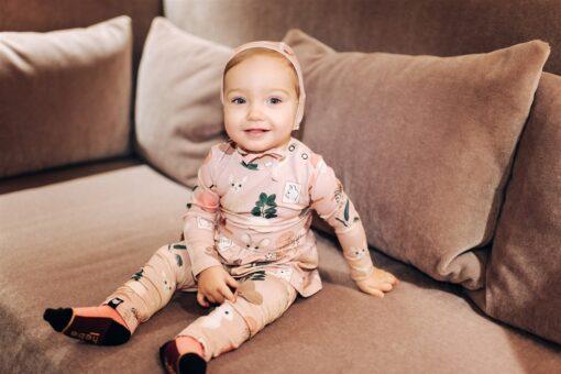 HEBE - jurk met romper - sweet home - roze - Eleen4Kids