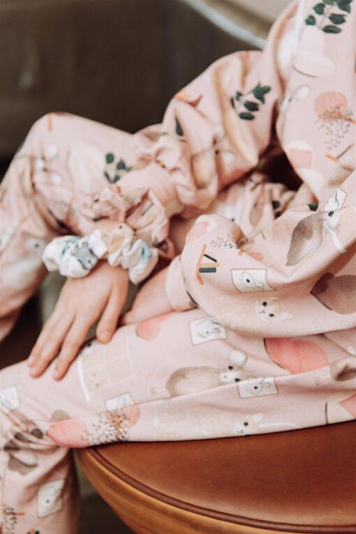 HEBE - leggings - sweet home - roze - Eileen4Kids