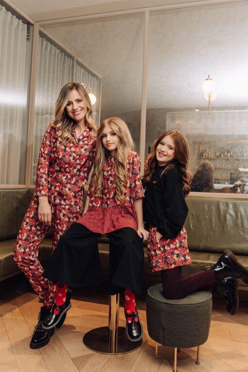 HEBE - meisjes shirt - bloemen rood - Eileen4Kids