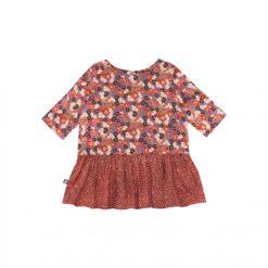 HEBE - meisjes shirt - bloemen - rood - Eileen4Kids