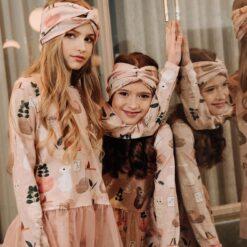 HEBE - meisjes shirt - lange mouwen - tule roesje - Eileen4Kids