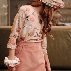 HEBE - meisjes shirt - sweet home - roze - Eileen4Kids