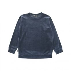 HEBE - meisjes sweater cotton velvet - navy - Eileen4Kids