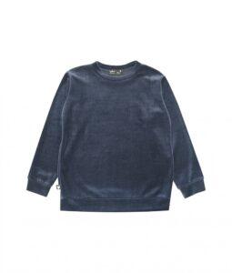HEBE - meisjes sweater cotton velvet - navy - Eileen4Kids