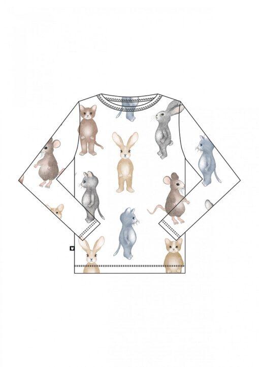 HEBE - shirt - dierenprint - wit - Eileen4Kids