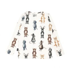 HEBE - shirt - wit - dierenprint - Eileen4Kids